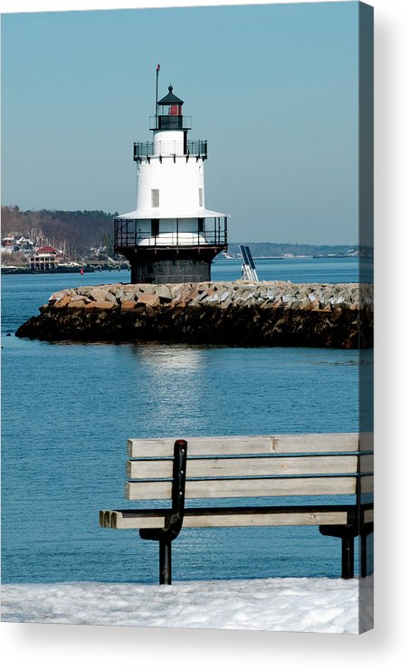 Coast Acrylic Print featuring the photograph Spring Point Ledge Lighthouse by Greg Fortier