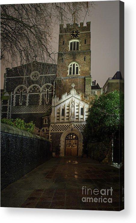 St Bartholomew The Great Acrylic Print featuring the photograph St Bartholomew The Great Church by Philip Pound
