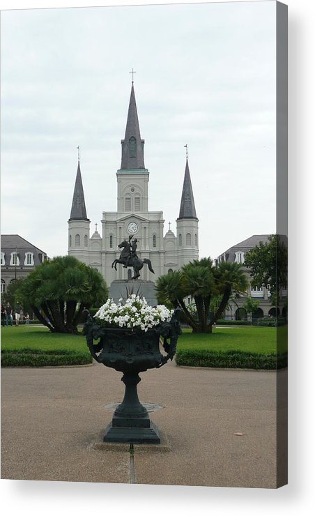 New Orleans Acrylic Print featuring the photograph St. Louis Cathedral New Orleans by Kathy Schumann