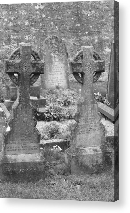 Tombstones Acrylic Print featuring the photograph St. Mary by Lauri Novak