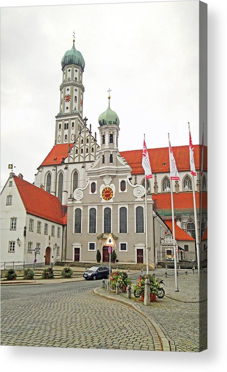 St. Ulrich's Acrylic Print featuring the photograph St. Ulrich's And St. Afra's Abbey by Robert Meyers-Lussier