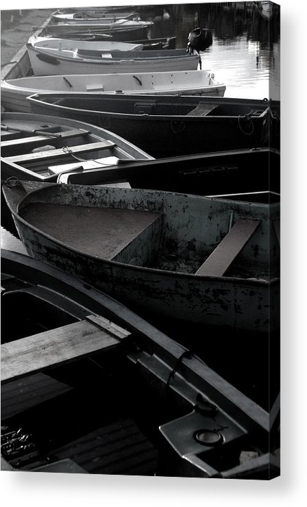 Jez C Self Acrylic Print featuring the photograph Staggered Boats by Jez C Self