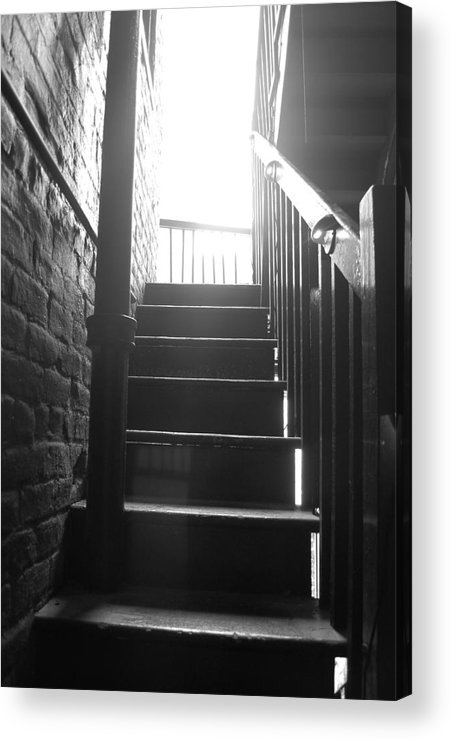 Black And White Acrylic Print featuring the photograph Stairs by Michelle Williams