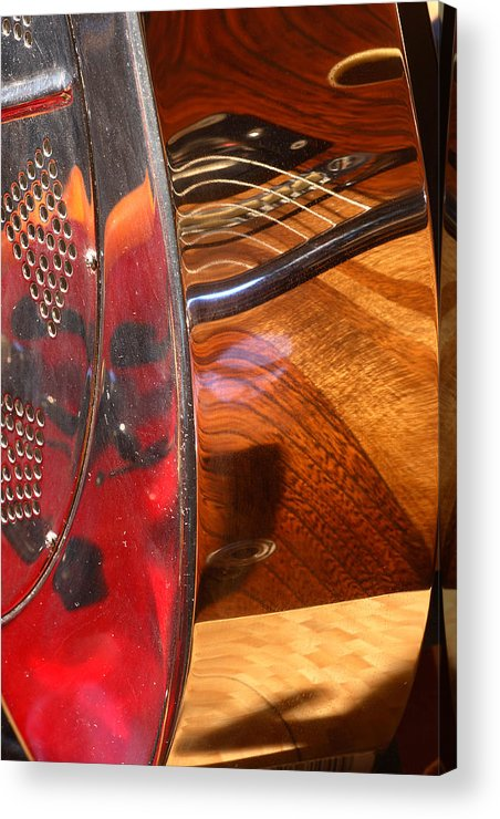Guitar Acrylic Print featuring the photograph Steel And Wood 2 by Art Ferrier
