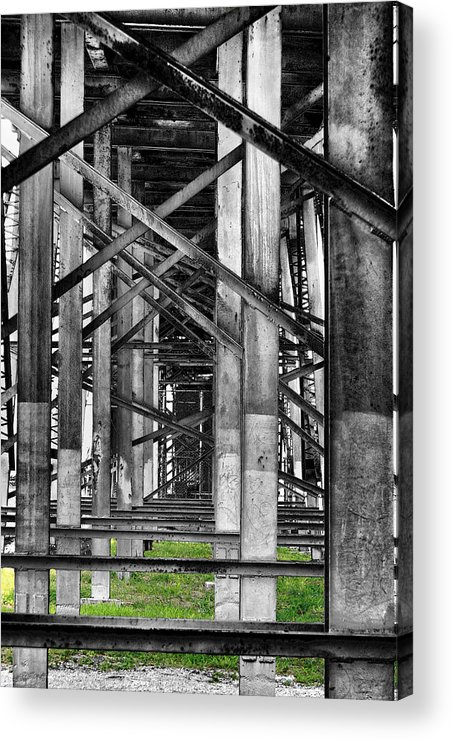 Steel Acrylic Print featuring the photograph Steel Support by Rudy Umans