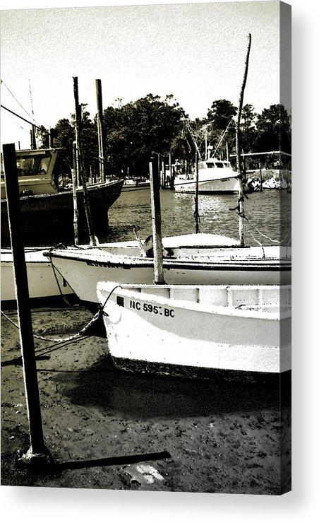 Photo Acrylic Print featuring the photograph Styron Bay Harbor 2 by Alan Hausenflock