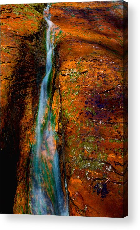 Outdoor Acrylic Print featuring the photograph Subway's Fault by Chad Dutson