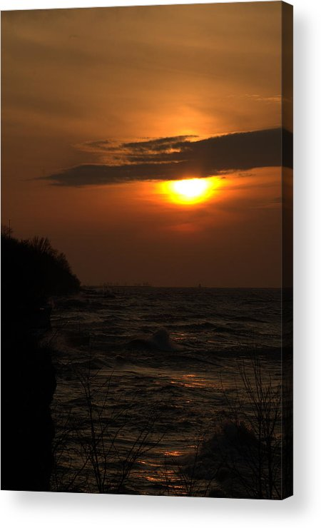 Lake Acrylic Print featuring the photograph Sun Coming Down by Julianne Minor