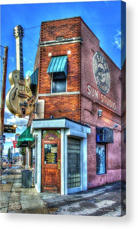 Reid Callaway Sun Studio Signage Acrylic Print featuring the photograph Sun Studio Memphis Tennessee Art by Reid Callaway