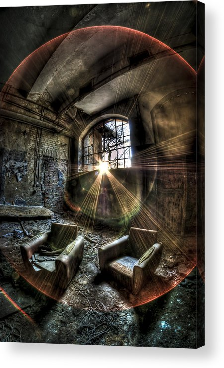 Room Acrylic Print featuring the photograph Sunburst Sofas by Nathan Wright