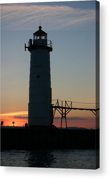 Light House Acrylic Print featuring the photograph Sunset Light House by Kevin Dunham