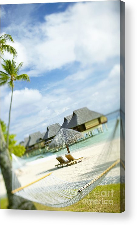 10-pfs0158 Acrylic Print featuring the photograph Tahiti, Bora Bora by Kyle Rothenborg - Printscapes