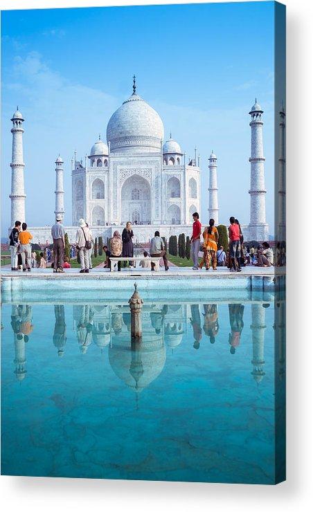 Ancient Acrylic Print featuring the photograph Taj Mahal by Nila Newsom