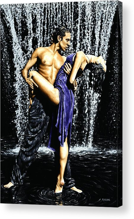 Tango Acrylic Print featuring the painting Tango Cascade by Richard Young