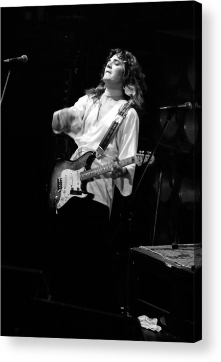 Tommy Bolin Acrylic Print featuring the photograph Tb76#13 Crop 3 by Ben Upham