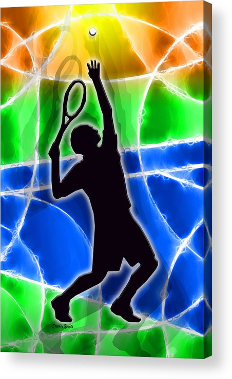 Tennis Acrylic Print featuring the digital art Tennis by Stephen Younts