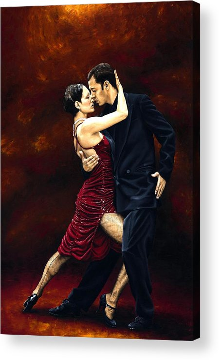 Tango Acrylic Print featuring the painting That Tango Moment by Richard Young