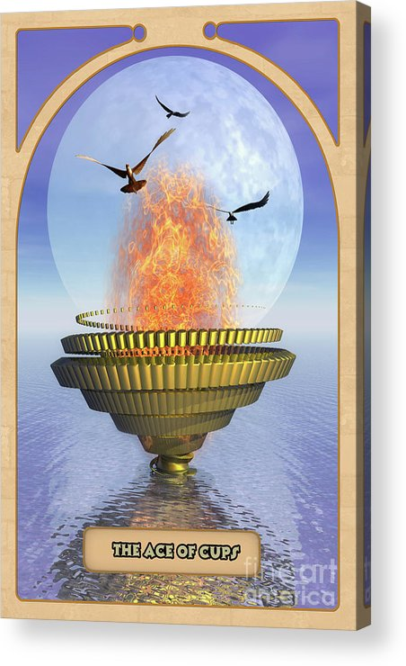Magic Acrylic Print featuring the digital art The Ace Of Cups by John Edwards