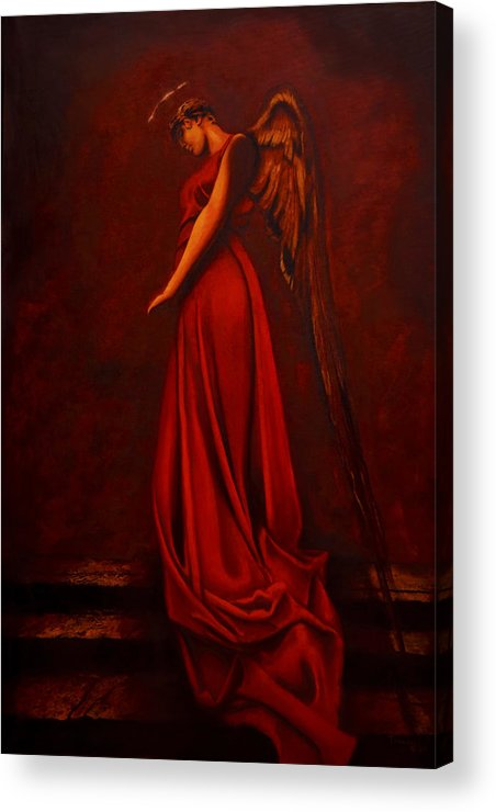 Giorgio Acrylic Print featuring the painting The Angel Of Love by Giorgio Tuscani
