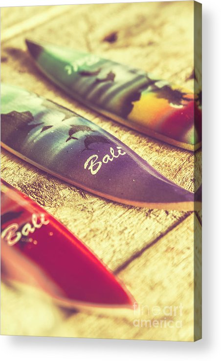 Board Acrylic Print featuring the photograph The Art Of Surf by Jorgo Photography - Wall Art Gallery