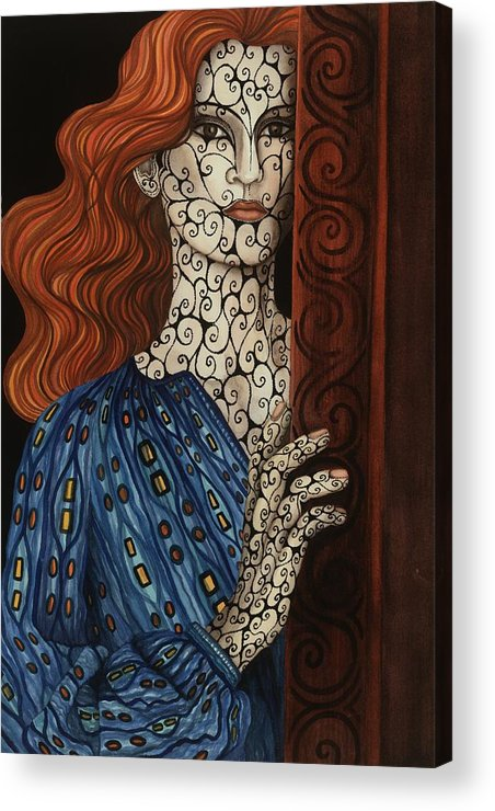 Acrylic Print featuring the painting The Assessment by Tina Blondell