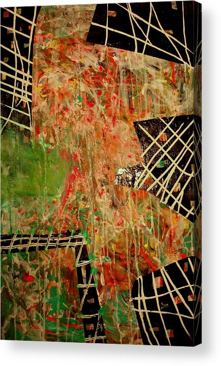 Abstract Paintings Acrylic Print featuring the painting The Catch by Teo Santa