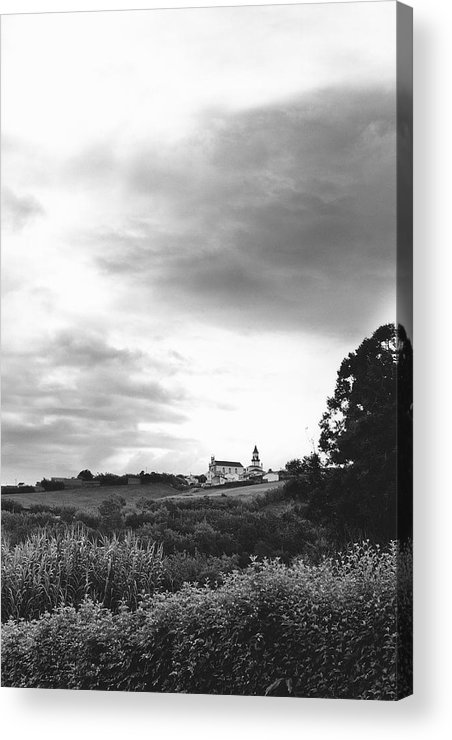 Azores Acrylic Print featuring the photograph The Church At Salga Azores Portugal by Henry Krauzyk