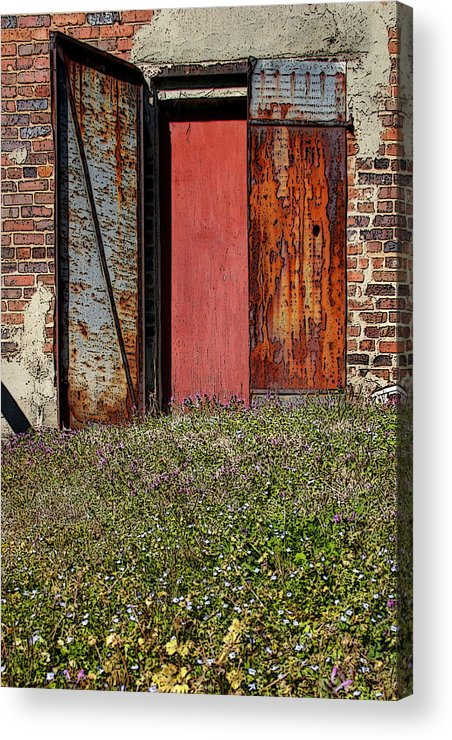 Rust Acrylic Print featuring the photograph The Door by Alan Skonieczny