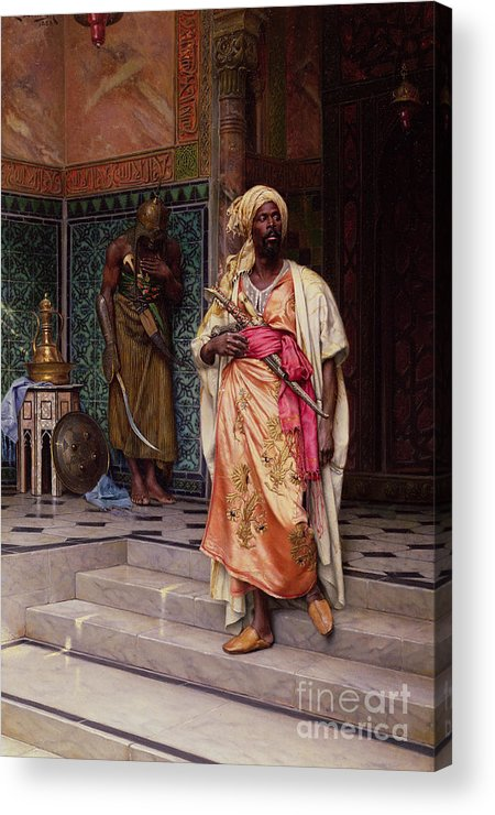 The Acrylic Print featuring the painting The Emir by Ludwig Deutsch