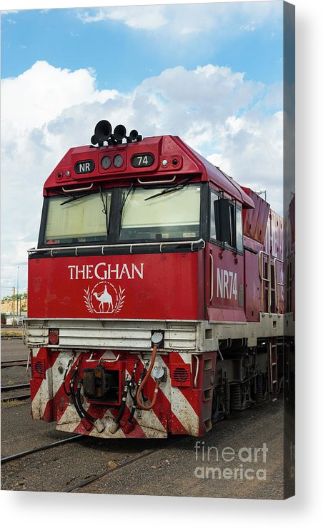 2017 Acrylic Print featuring the photograph The Famed Ghan Train by Andrew Michael