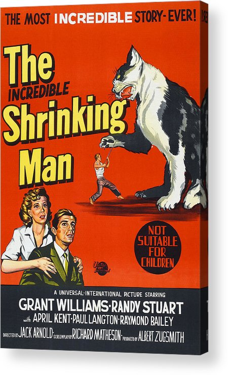 1950s Poster Art Acrylic Print featuring the photograph The Incredible Shrinking Man, Bottom by Everett