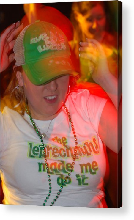 St. Patrick Acrylic Print featuring the photograph The Leprechauns Made Her Do It by Steven Crown