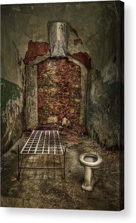 Jail Acrylic Print featuring the photograph The Life Of Crime by Evelina Kremsdorf