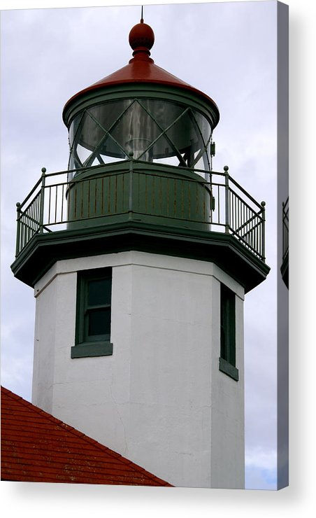 Tower Of Alki Lighthouse Acrylic Print featuring the photograph The Nautical Light by Sonja Anderson