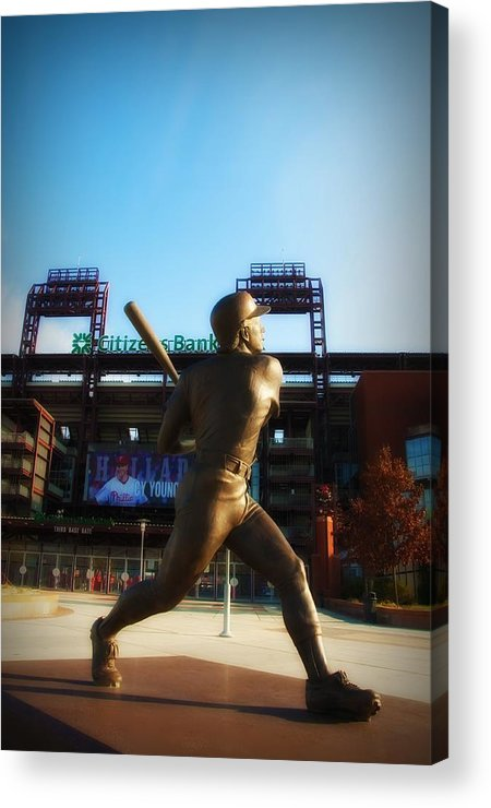 Mike Schmidt Acrylic Print featuring the photograph The Phillies - Mike Schmidt by Bill Cannon