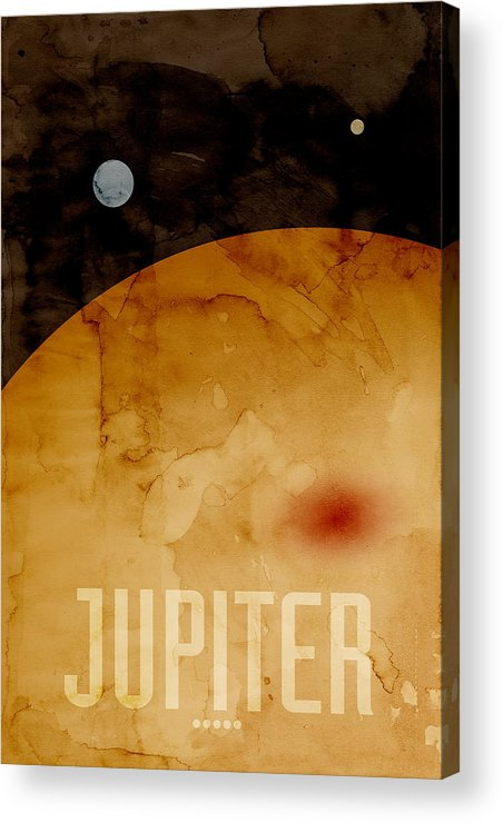 Jupiter Acrylic Print featuring the digital art The Planet Jupiter by Michael Tompsett