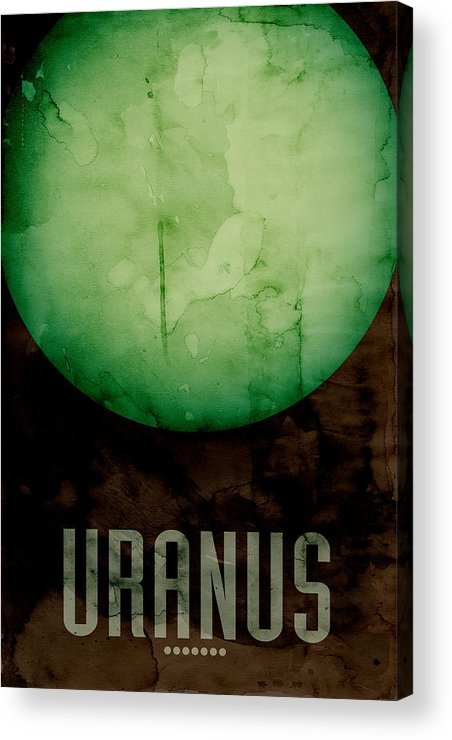 Uranus Acrylic Print featuring the digital art The Planet Uranus by Michael Tompsett