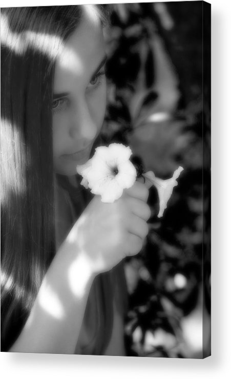Girl Acrylic Print featuring the photograph The Scent by Steve Parrott
