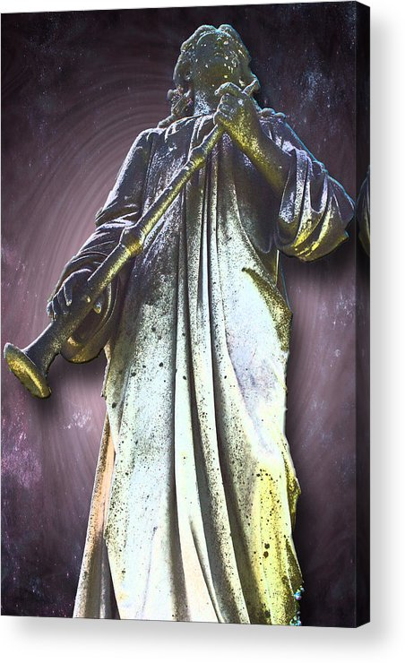 Angels Acrylic Print featuring the photograph The Seventh Trumpet by Lisa Brandel