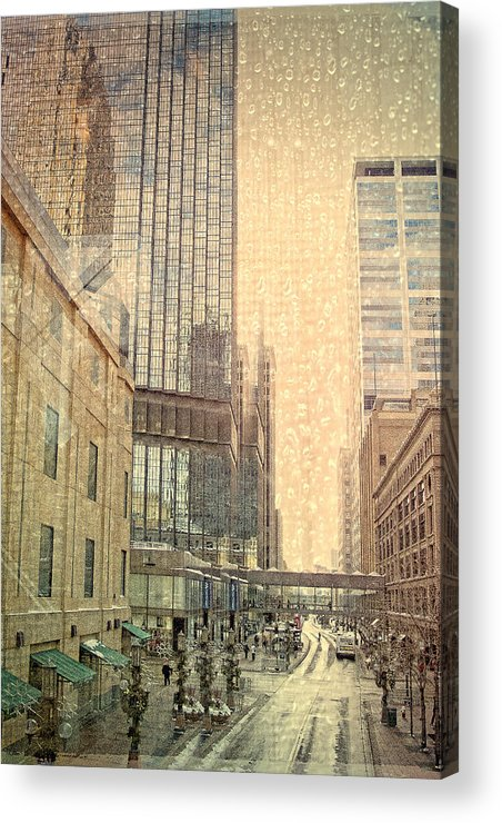 Mpls. Acrylic Print featuring the digital art The Streets Of Minneapolis by Susan Stone