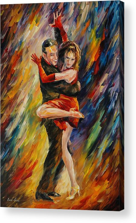 Dance Acrylic Print featuring the painting The Sublime Tango by Leonid Afremov