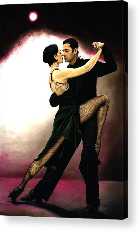 Tango Acrylic Print featuring the painting The Temptation Of Tango by Richard Young