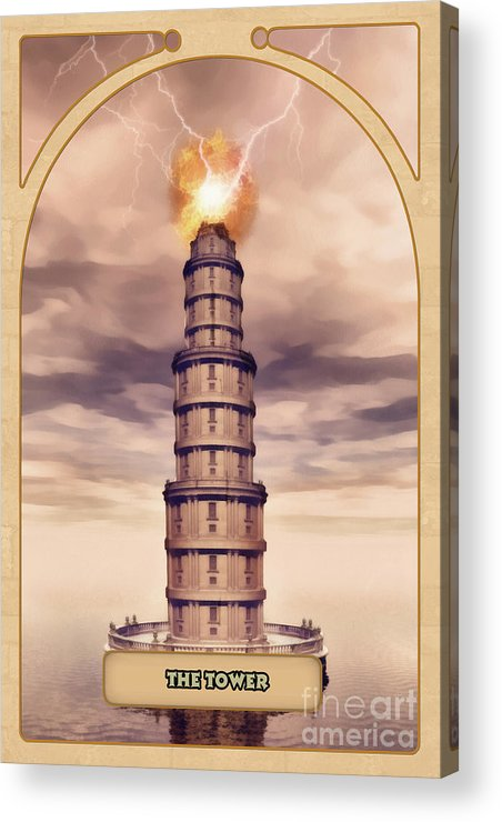 Magic Acrylic Print featuring the digital art The Tower by John Edwards
