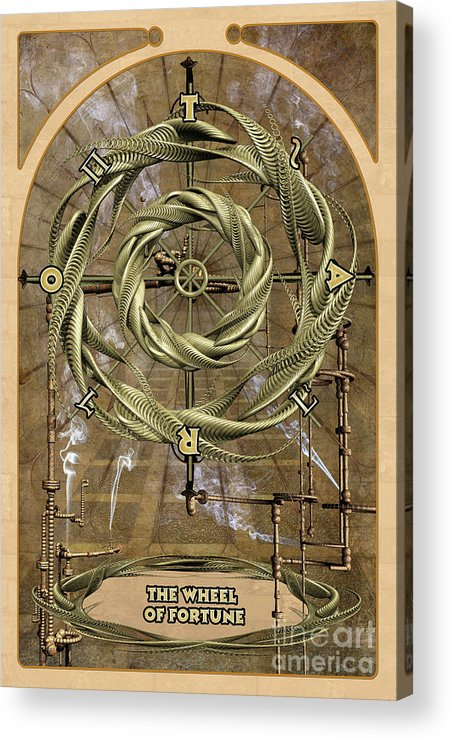 Magic Acrylic Print featuring the digital art The Wheel Of Fortune by John Edwards