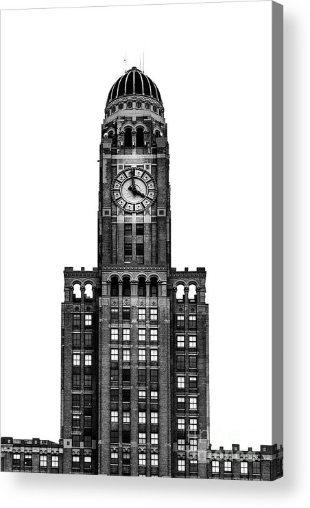 Symmetry Acrylic Print featuring the photograph The Williamsburgh Savings Bank Tower, Brooklyn New York by Edi Chen