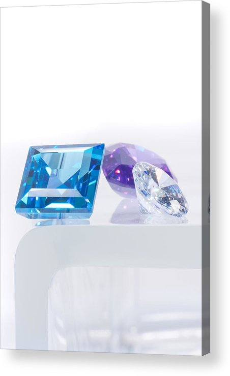 Allure Acrylic Print featuring the jewelry Three Jewel by Atiketta Sangasaeng