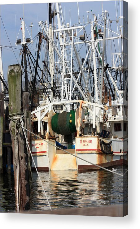 Fishing Boat Acrylic Print featuring the photograph Tied Up by Mary Haber