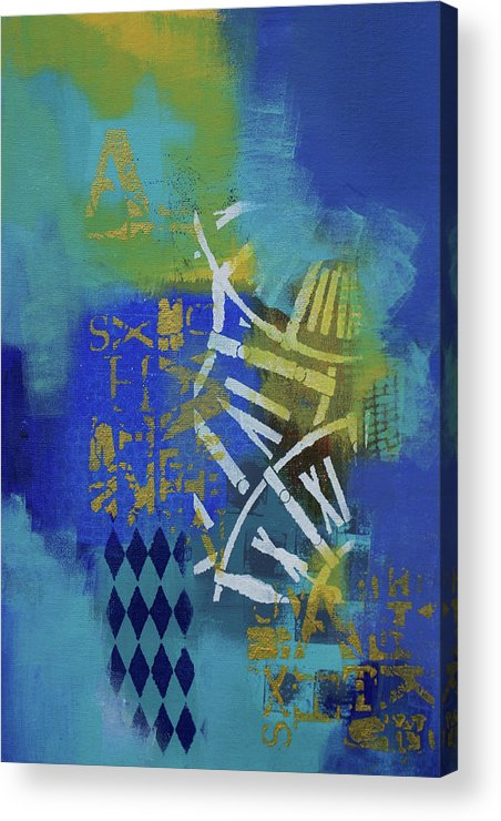 Time Travel Acrylic Print featuring the painting Time Travel by Artist Gaya