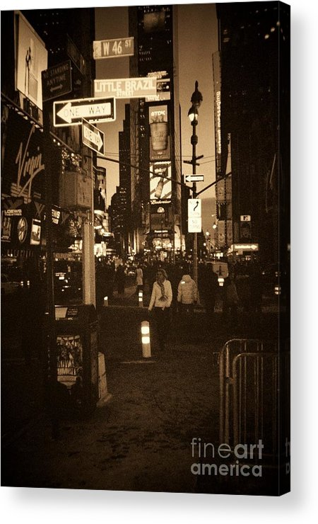 New York Acrylic Print featuring the photograph Times Square by Debbi Granruth