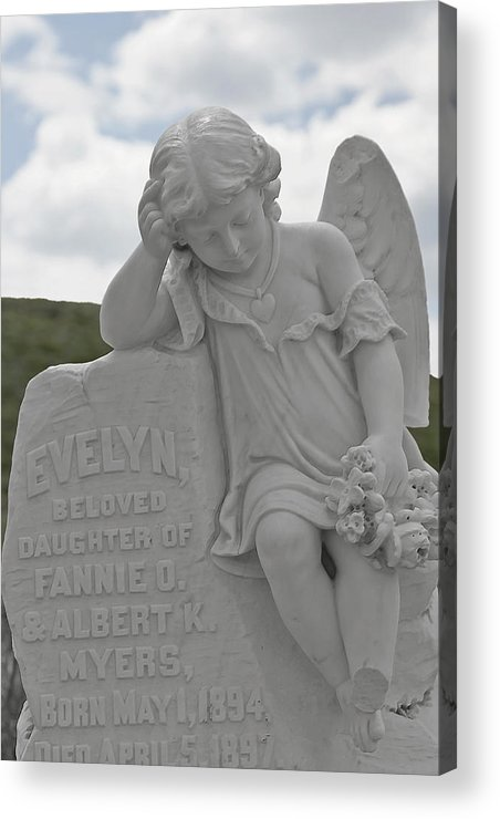 Bodie Acrylic Print featuring the photograph Tombstone Angel For An Angel by Christine Till